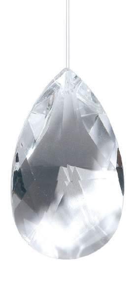 """Kristall Drachenträne 63mm, Glas """"bleifrei"""""""