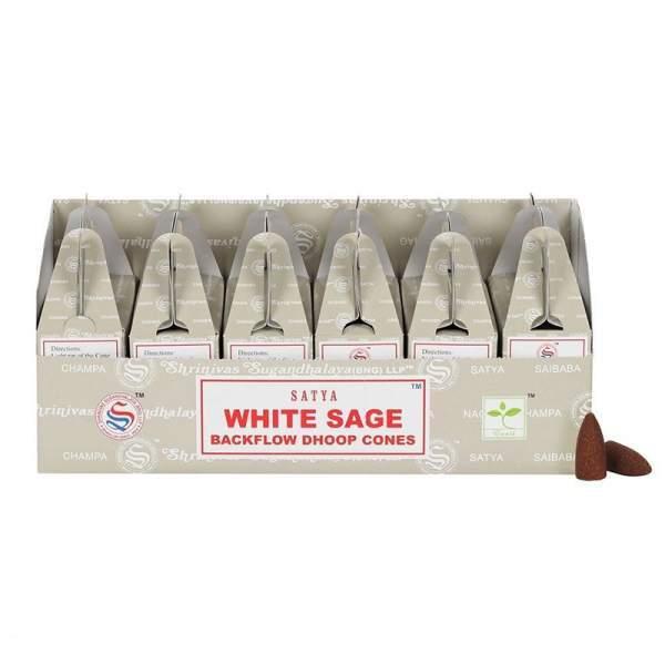 Weißer Salbei Rückfluss Räucherkegel -- 75 g