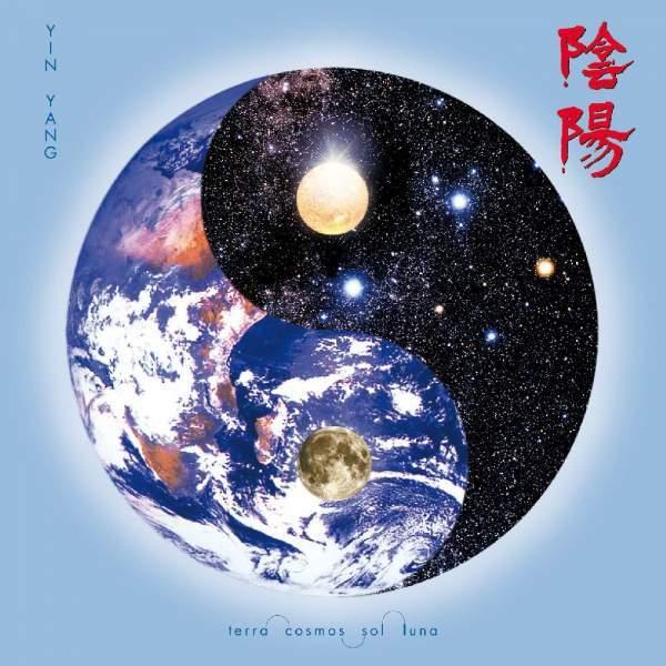 "Leinwanddruck ""Kosmisches Yin Yang"" 38cm"