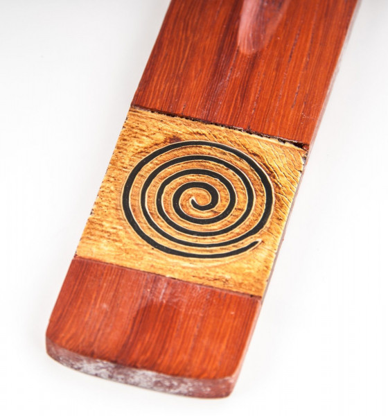 Holz Spirale rot