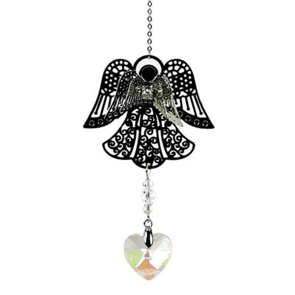 Engel und Regenbogen-Kristallherzchen -- 30 cm