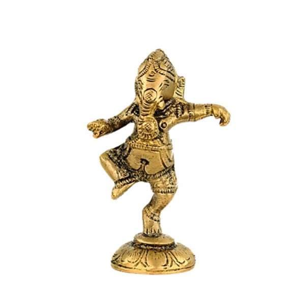 Ganesha tanzend aus Messing -- 150 g 10 cm