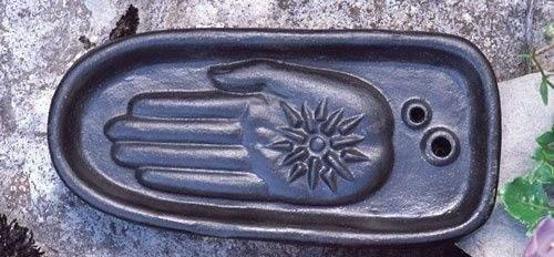 Keramik Healing Hand schwarz