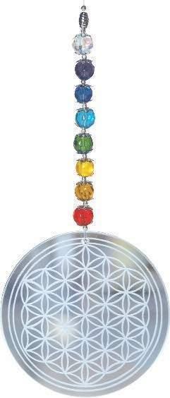 "Suncatcher ""Rainbow Flower of Life"""