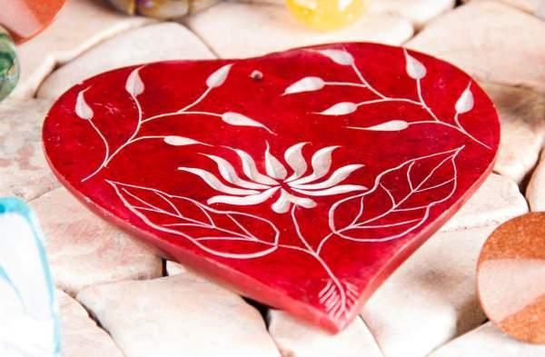 Räucherstäbchenhalter - Herz-Lotusblume (2 Stück)