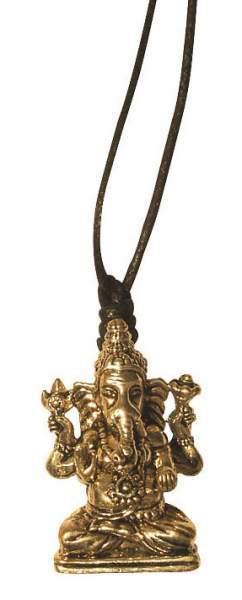 "Halskette ""Ganesha"" Messing 3cm"