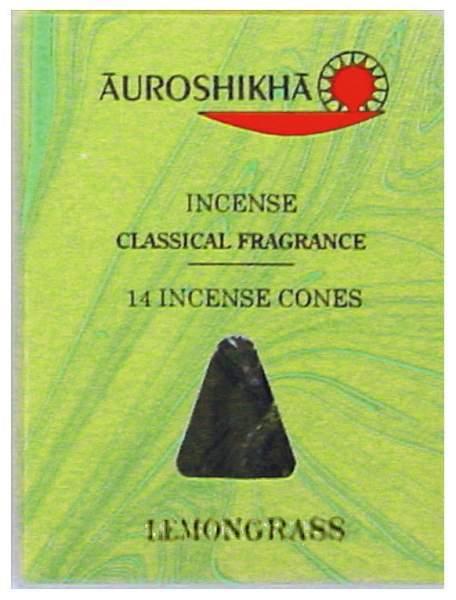 """Auroshikha Räucherkegel """"Lemongras"""""""