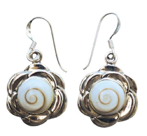 """Ohrhänger """"Shiva Auge im Lotus"""" je 2cm Silber 925 7,5g"""