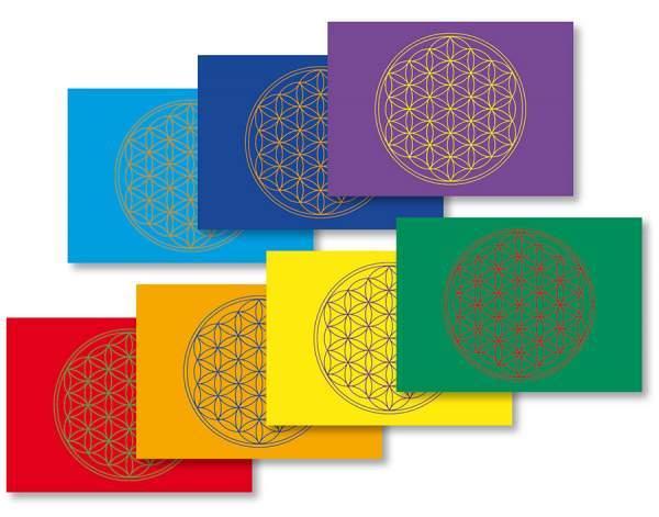 Postkarte Blume des Lebens 7er Set 10x15cm