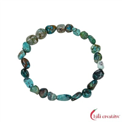 Armband, Chrysocoll (stab.), 06mm Nuggets (VPE: 1.0 St./pc)