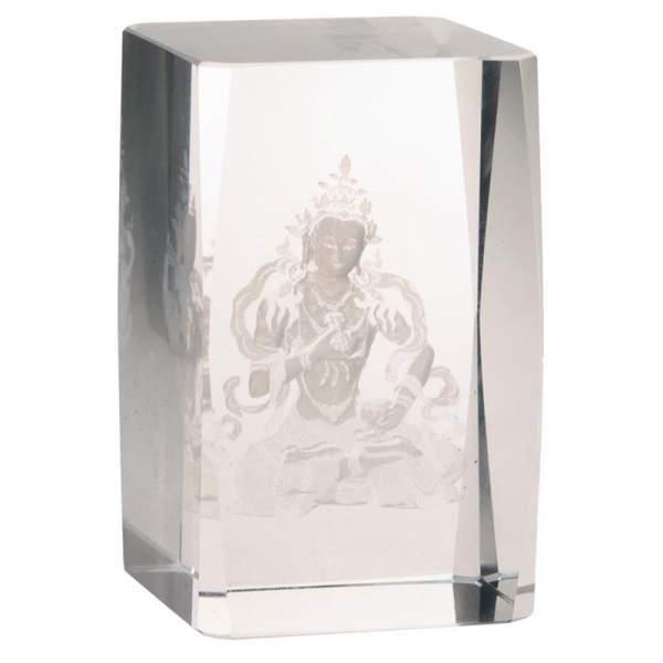 Kristall laser Vajrasattva Buddha AA -- 8x5x5 cm