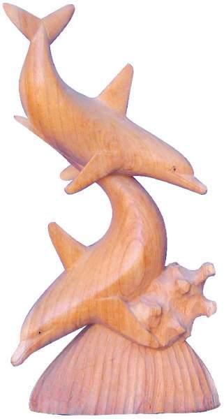 Partnerdelphine Holz natur 25cm spielend