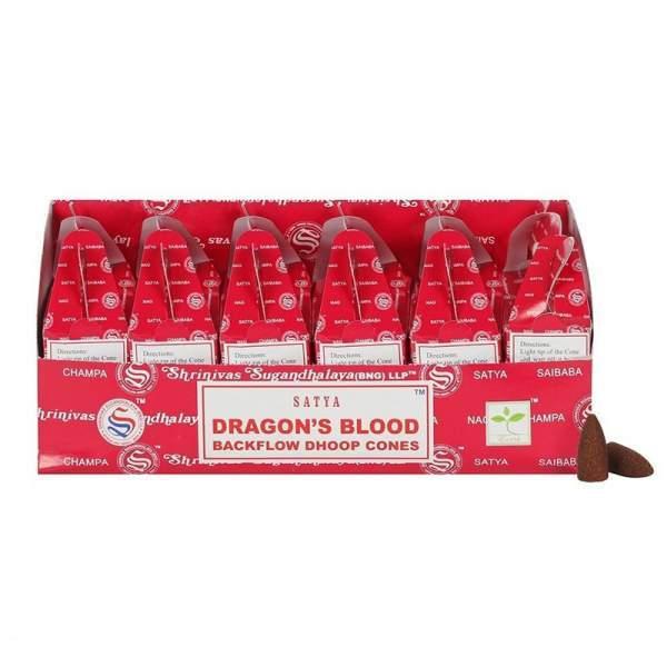 Drachenblut Rückfluss Weihrauch Kegel -- 75g