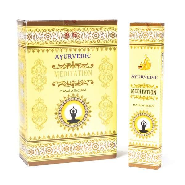 Räucherstäbchen Ayurveda Meditation Madala - handgerollt
