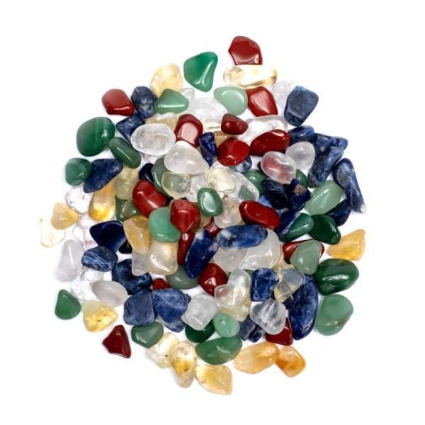 Trommelsteine Mix Tibetische Fünf Chakras -- ±500g ±1-2cm