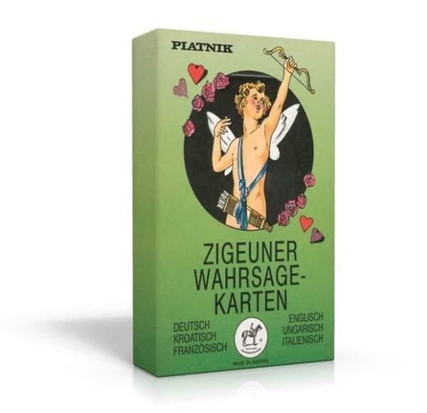 Zigeuner Wahrsagekarten. Deutsch/Englisch/Kroatisch/Ungarisc