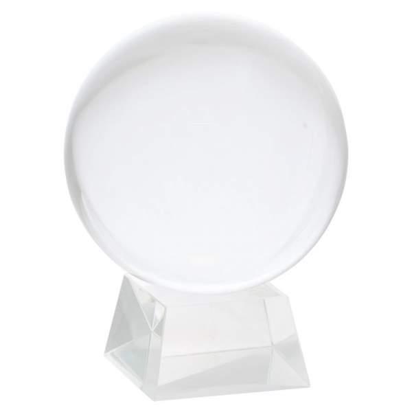 Kristallkugel + Glasfuß -- 15 cm