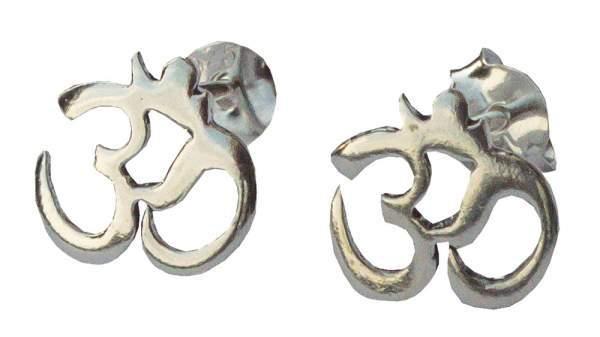 Ohrstecker 'Om' 1,0cm Silber 925 0,9g