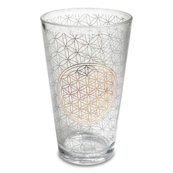 Trinkglas Blume des Lebens -- 480 ml (VPE 2 Stück)