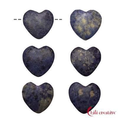Herz Dumortierit gebohrt, 15mm