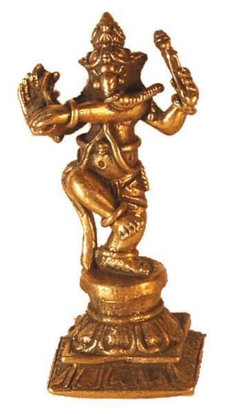 Ganesha tanzend Messing 3,5cm