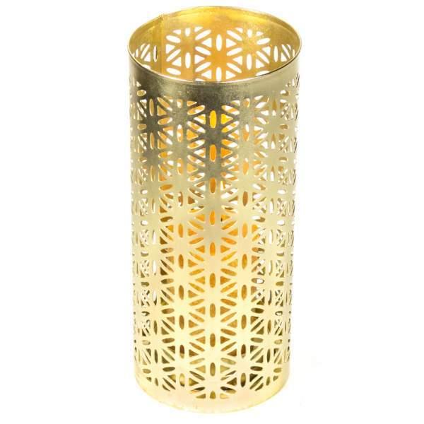 Stimmungsvoller Kerzenhalter Blume des Lebens -- 23x10 cm