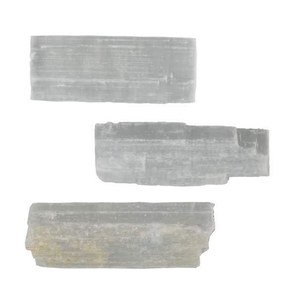 Dekosteine Selenit, ca. 09cm (VPE: 1.0 kg)