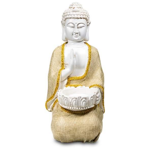 Friedensbuddha mit Teelichthalter -- 1180g 20x16x33 cm