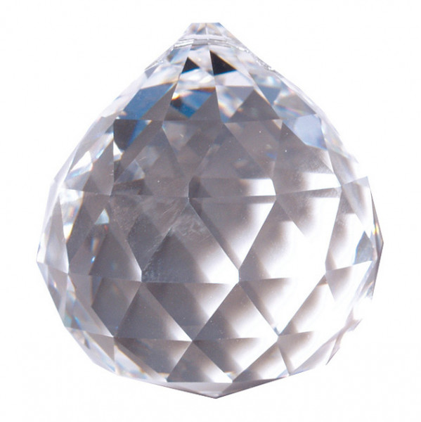 Kristall Kugel 20mm, Glas, Bleikristall > 30% PbO