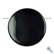 Spiegel Obsidian gebohrt mit Schnur, 4cm