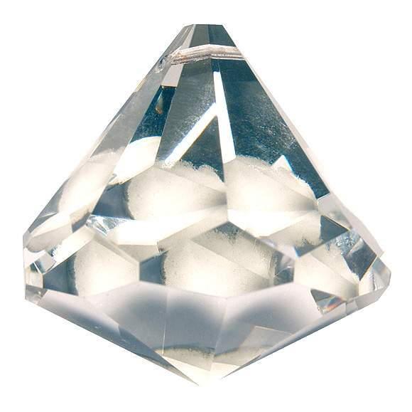 """Kristall Diamantschliff 30mm, Glas """"bleifrei"""""""