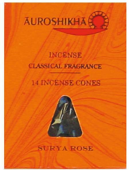 "Auroshikha Räucherkegel ""Rose"""