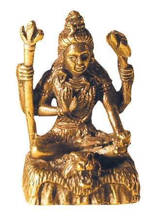 """Shiva sitzend"" Messing 3cm"