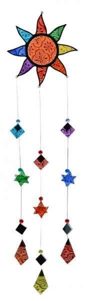 Sonnen-Mobile Tiffany-Glas bunt 15x55cm