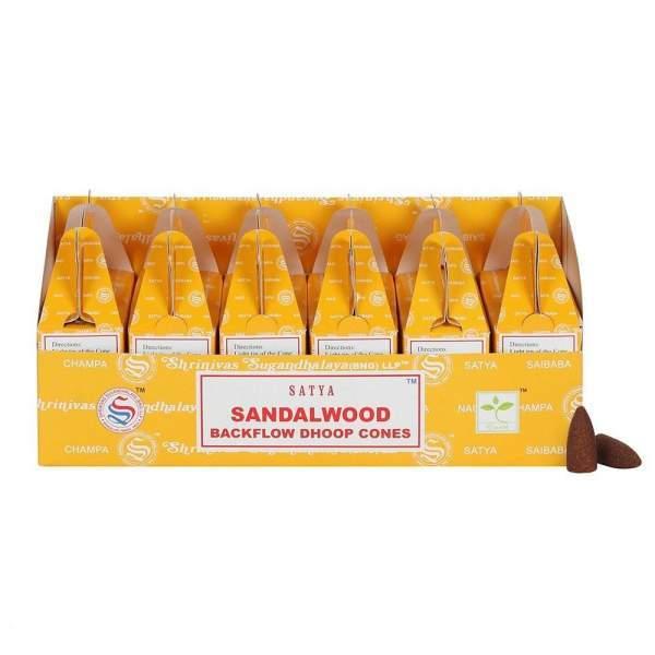 Sandelholz Rückfluss Räucherkegel -- 75 g