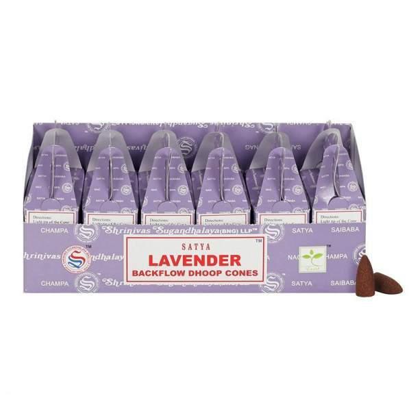 Lavendel Rückfluss Weihrauch Kegel -- 75g