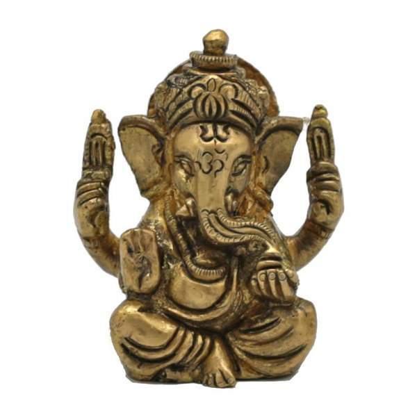 Ganesha Messing Miniatur -- 120 g 5 cm