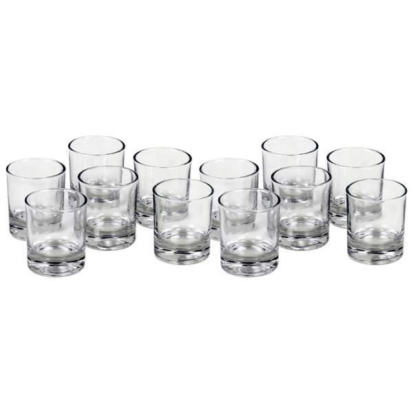 Glas für Votivkerzen & Teelichter -- 6x5 cm (VPE 12 Stück)
