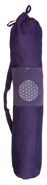 "Yogatasche ""Blume des Lebens"" Baumwolle purple 20x80cm"