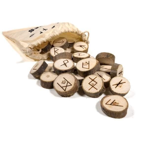 Orakelspiel Runen in Baumwolltäschchen