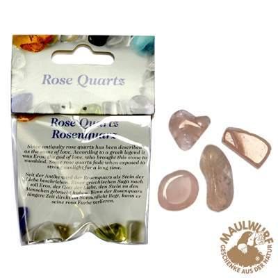 Klein-Packung, Rosenquarz, Trommelsteine, für Bodenständer