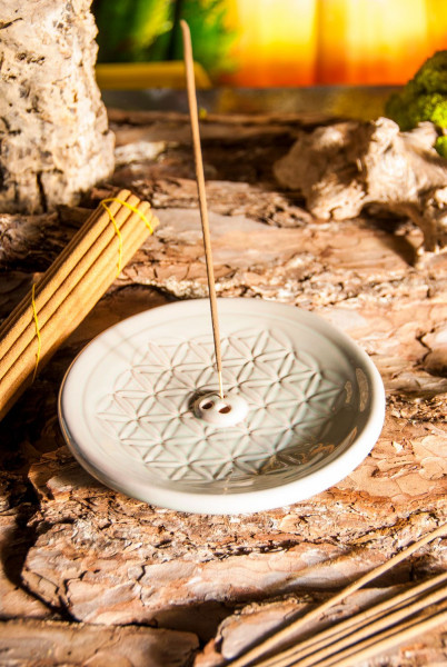 Halter Keramik Blume des Lebens türkis VE=2