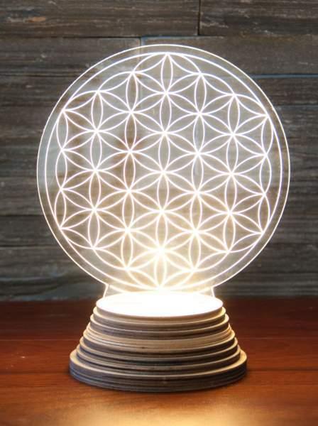 Blume des Lebens Ambientelicht aus Acryl