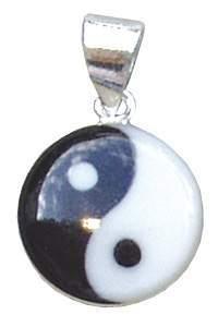"Anhänger ""Yin-Yang"" 1,5cm Silber 925 Resin 2,2g"