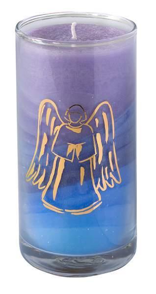"""Kerze """"Sky Engel"""" im Glas Stearin 14cm"""