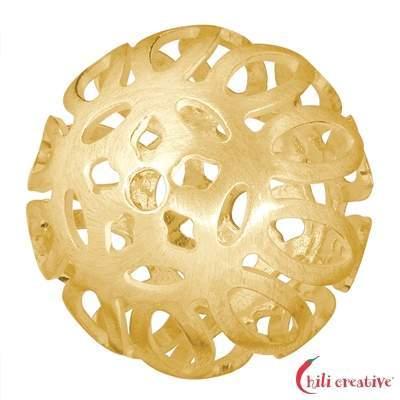 Design-Kugel Baroque 19mm, Silber vergoldet matt (1 St./VE)