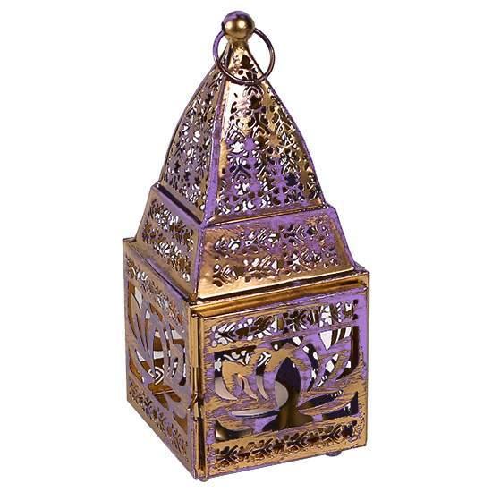 Stimmungsvoller Teelichthalter Lotus -- 8.5x8x19 cm