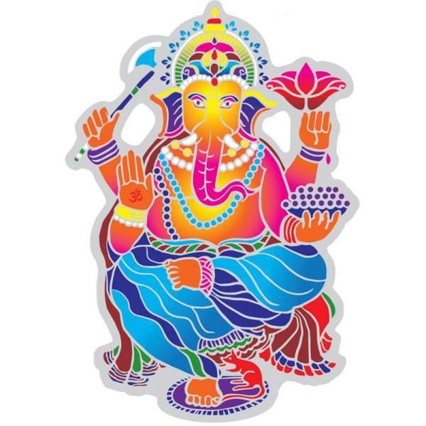 Fensterbild Tanzender Ganesha -- 15.5 cm