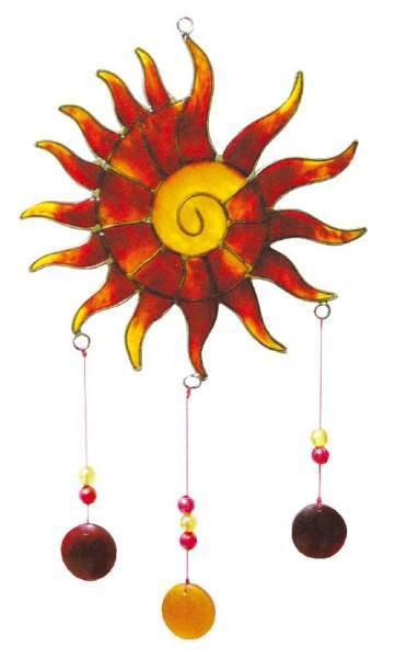 "Spiritcatcher ""Sonnenspirale"" Fiberglas rot 14x25cm"