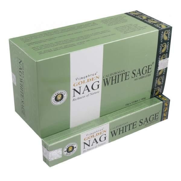 "Vijayshree Incense ""Golden Nag Californian White Sage"" 15gr."